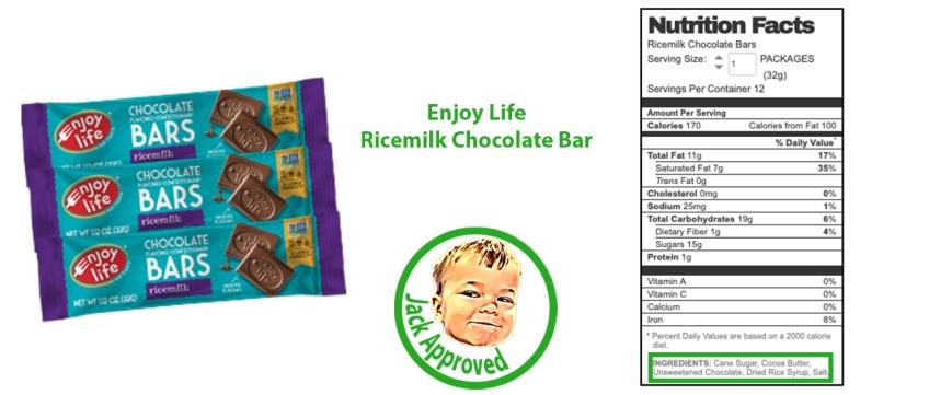 Enjoy Life Ricemilk Chocolate Bar Final Food Allergy Eggs