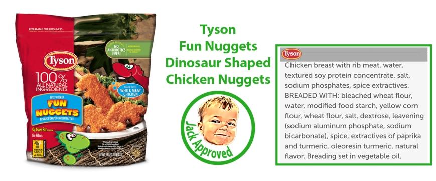 Tyson Dinosaur Chicken Nuggets